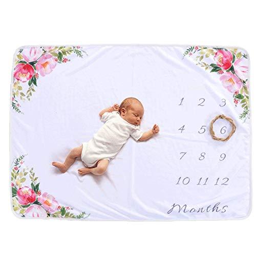 rainnao Babydecke Neugeboren zum Fotografieren Jahrhunderte Jubiläum Hintergrund Tuch Schießdecke flauschig weich süß 76 × 102 cm