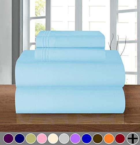 Elegant Comfort Bettwäsche-Set, luxuriös, weich, Fadenzahl 1500, ägyptische Qualität, Knitter- und lichtbeständig, 3 Stück Modern California King Aqua