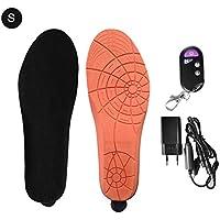 Plantilla calentada, Unisex USB Recargable Calentados Plantillas con control remoto Calentador de la bota o Caza Pesca Senderismo Acampar Tamaños múltiples, mantenga sus pies calientes en frío