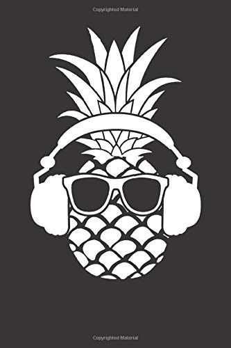 Notebook: Pineapple Fruit Beach Bar Sunny Funny Vacation Mode Gift Dot Grid Dotted 6x9 120 Pages