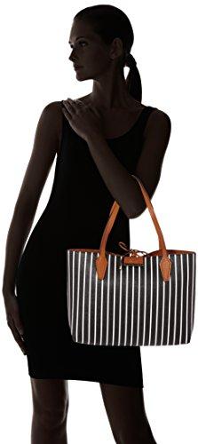 Guess Bobbi, Sacs portés épaule femme, Nero (Black Stripe), 13x28x48 cm (W x H L) Noir (Black Stripe)