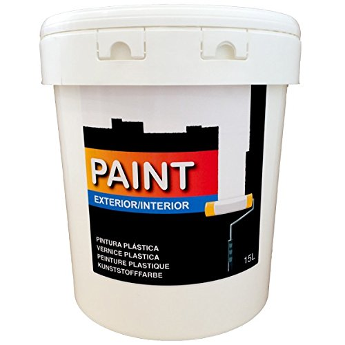 Pintura plástica blanca lavable para Interior y Exterior de 15 litros (salon, baño, dormitorios, cocina.) Blanco (15 L) Envío en 24/48 H.