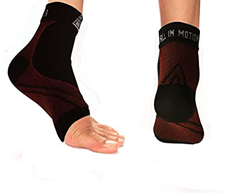 Plantar Fasciitis Sleeve, Enhanced Support Foot Care Compression Sock, Fast, Effective and Long Lasting Pain Relief, Improves Circulation, Reduces swelling, Heel Spurs, Arch Issues, Constructed with Ankle Brace Support, Helps Stop Foot Pain Fast. (SMALL/MEDIUM)