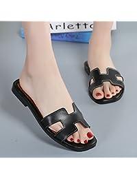 OME&QIUMEI Las Damas Zapatillas Con H Zapatos Y Zapatillas 37 Negro