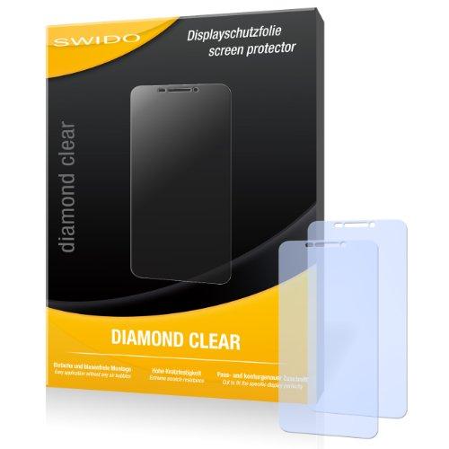 SWIDO 2 x Bildschirmschutzfolie Huawei Ascend G630 Schutzfolie Folie DiamondClear unsichtbar