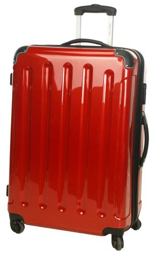 3-teiliges Polycarbonat-Trolley-Koffer-Set in rot