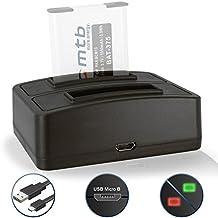 Caricabatteria doppio (USB) per Panasonic Lumix DMC-FT5, LZ40, TS5, TS6 / DMC-TZ55, TZ56, TZ58, TZ60, TZ61, TZ70, TZ71… - vedi lista di compatibilità!