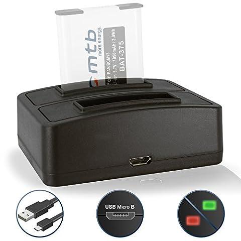 Dual Charger (USB) for Panasonic Lumix DMC-FT5, LZ40, TS5, TS6