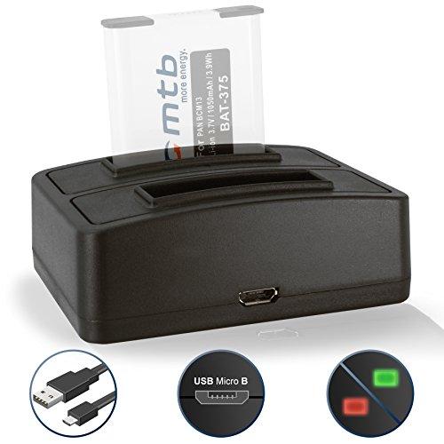Dual-Ladegerät (USB) für Panasonic Lumix DMC-FT5, LZ40, TS5, TS6 / DMC-TZ55, TZ56, TZ57, TZ58, TZ60, TZ61, TZ70, TZ71… s. Liste