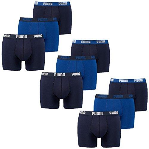 Puma 9 er Pack Boxer Boxershorts Herren Unterwäsche sportliche Retro Pants, Bekleidungsgröße:M, Farbe:056 - blue