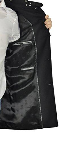 Michaelax-Fashion-Trade - Manteau - Uni - Manches Longues - Homme Noir - Noir