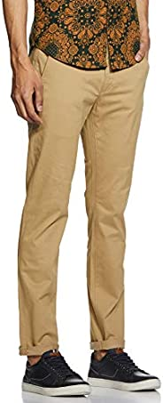 Levi's Men's 511 Slim fit Chinos denim jeans in Beige, Size: