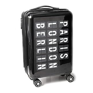 Balvi–AirportMaletaTrolleyconMedidasdeCabina.MaletarígidadeplasticoDuro–ABS.con4Ruedas.