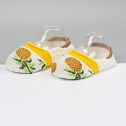 XIU*RONG Calcetines Para Bebés, Niños Calcetines Calcetines Antideslizantes Niños Contacto,Piña,M (3-5 Años) (10 Pares)