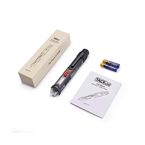 Tester-di-tensione-senza-contatto-Tacklife-VT01-Rilevatore-di-Tensione-da-12V-1000V-Misuratore-a-Pennna-Corrente-AC-con-Lallarma-Beep-la-Torcia-Misura-Filo-VivoNullo