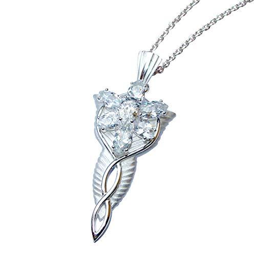 Gran Arwen Abendstern (auténtica plata) de el Señor de los anillos - Con 925 Silberkette