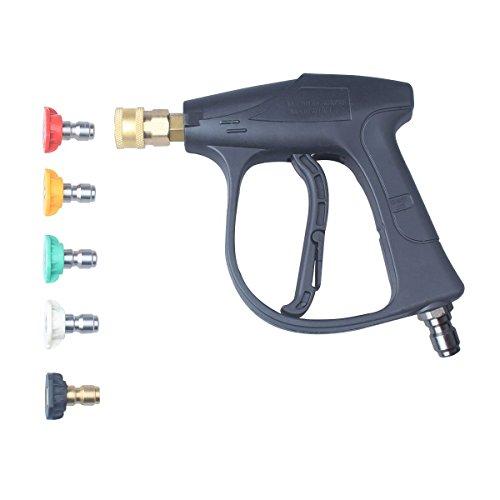 Jinkang alta presión arandelas pistola, 3000PSI Max, 5arandela de presión de agua boquillas puntas, 2,5, 3/8'Inlet