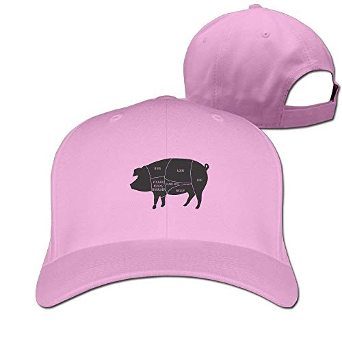 Zhgrong Caps Pig Meat Pork Cuts Solid Travel Cap Baseball Cap Sport Hats for Men and Womens ny Cap (Gti Cap Hat)
