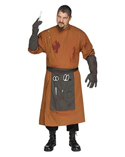 3-tlg. Psycho Arzt Kostüm für Fasching & Halloween One Size Plus