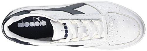 Diadora B. Elite, Pompes à plateforme plate mixte adulte Blanc Cassé (Bianco/blu Profondo)