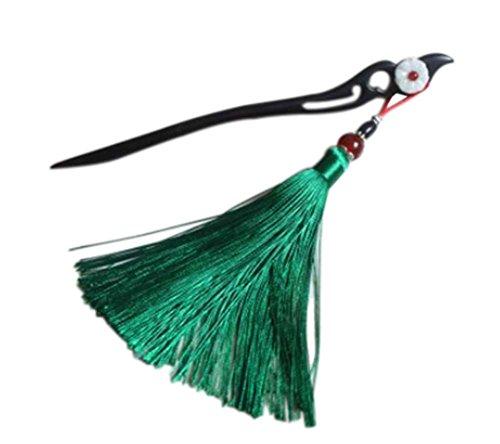 style classique accessoires du vêtement en bois, houppe vert