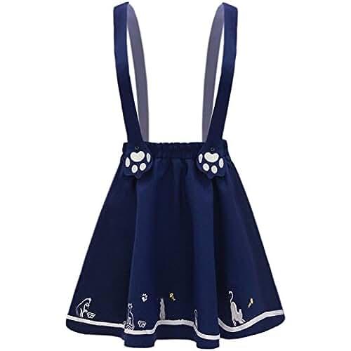 ropa primavera kawaii Futurino - Falda - trapecio - para mujer