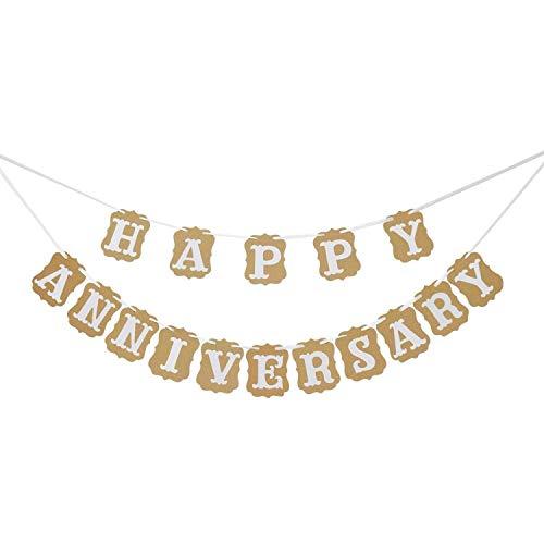 Banner Girlande Happy Anniversary Wimpelkette, Party-Dekoration, Foto-Requisiten