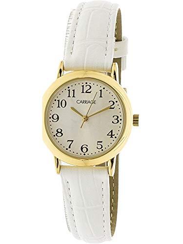 Timex Women's Carriage C3C747 Gold Leather Quartz Fashion Watch (Timex Gold Womens Watch)