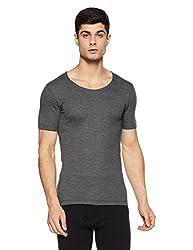 Jockey Mens Cotton Vest (8901326014349_2400_S_Charcoal Melange)