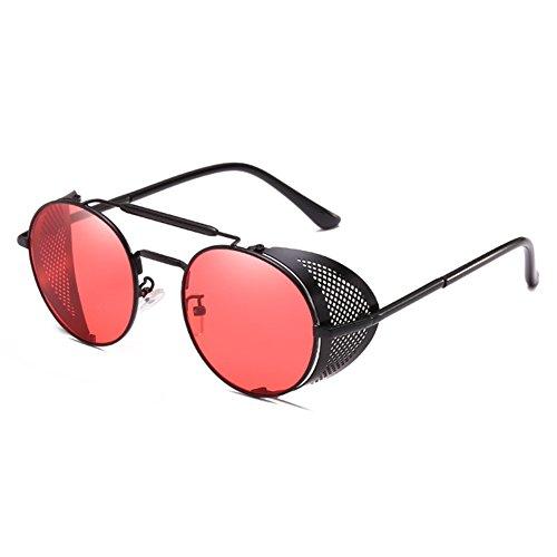 yuxin Metal Frame Steampunk Occhiali da sole Uomo Donna Occhiali Goggle Occhiali da vista vintage C1