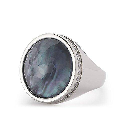 Leonardo Jewels Damen Ring Eleganza Edelstahl Glas silber 016353