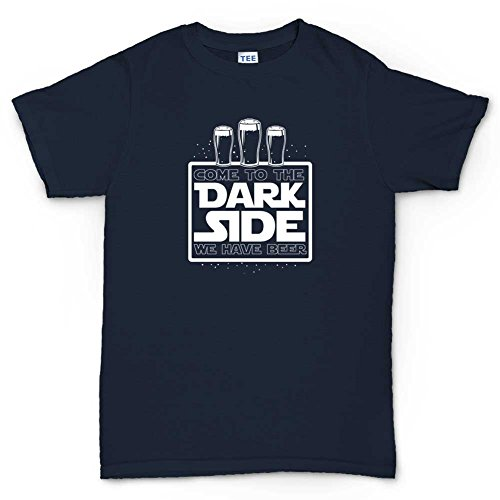 Dark Side Beer Funny T-shirt Navy Blau