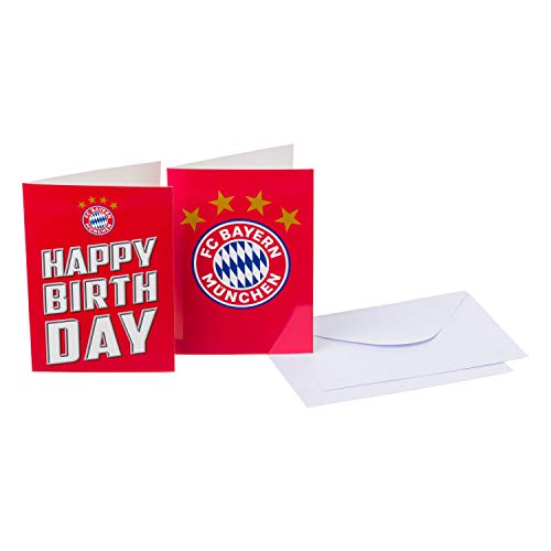 FC Bayern München Karten-Set, Klappkarten Glückwunschkarten 4-teilig FCB - Plus Lesezeichen I Love München