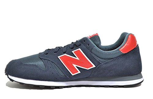 New Balance NBML373BSO Sneaker, Unisex Blu (Snr Navy/Red)