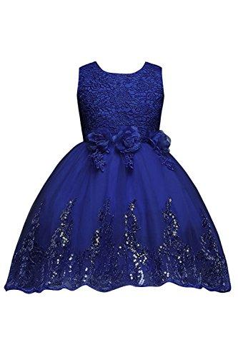 Babyonlinedress Kinder Mädchen Kleid Festlich Kinderkleid Blumensmädchenkleid Royal Blau Hochzeit...