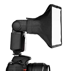 Neewer Boite à lumière translucide portable pour flash Speedlight, Neewer TT520, TT560, TT660, Nikon SB-900 AF, SB-800 AF, SB-700 AF, SB-600, SB-400 AF, Canon Speedlite 380EX, 430EX, II, 550EX, 580EX, II, 600EX-RT, Vivita Flash, Sunpack, Nissin,Sigma, Sony, Pentax, Olympus, Panasonica, Lumix 20 x 15 cm