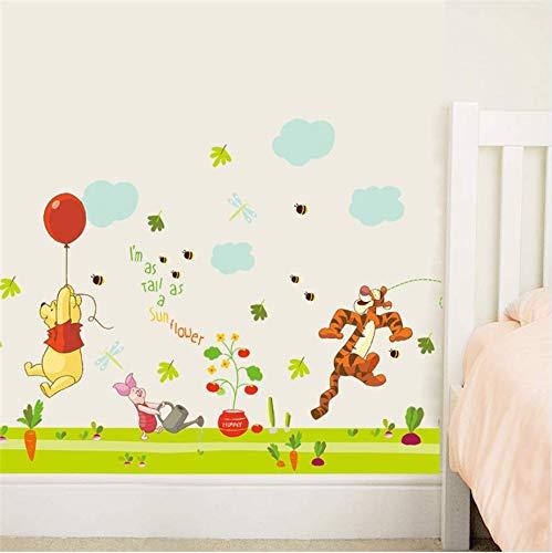 Dibujos animados Winnie Pooh Tiger Pegatinas de Pared Para Niños Habitaciones Niños Chica Decoración para el hogar Tatuajes de pared Decoración del hogar Papel de pared