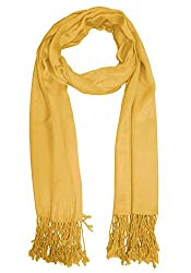 URBAN-TRENDZ Latest Collection of Satin Pashmina Scarf Stole Duppatta Shawl with twisted fringes in Superfine Quality (Summer Colours) UT2331Y