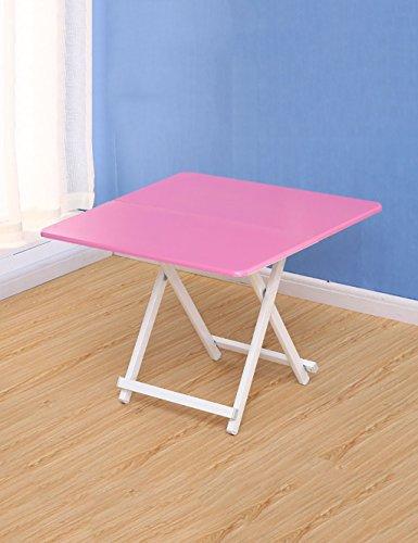 FPF Klapptische Home Portable Klapptisch Platz Tisch Esstisch Kinder Tisch (6 Farben, 3 Größen optional) Leicht zu bewegen und zu tragen ( Farbe : B , größe : L*W*H:60*60*55cm ) (Klapptisch Portable)