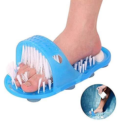 Preisvergleich Produktbild xel_uu.11,  Bad Fußmassage Hausschuhe Original Dusche Sandale Fußwäscher Fußbürste Wäscher Massagegerät Unterlegscheiben Reinigung Borsten Hausschuhe