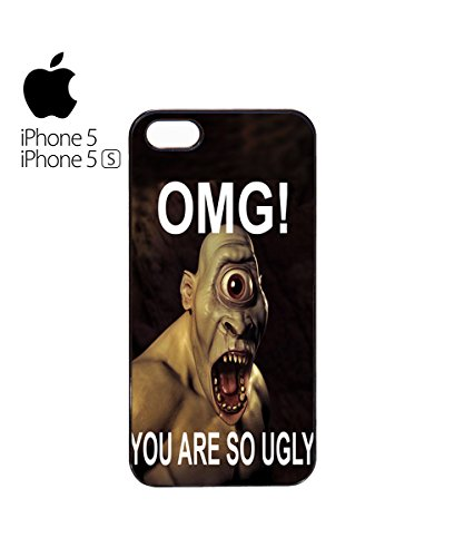 OMG You Are So Ugly Monster Alien Bizarre Odd Strange Mobile Phone Case Cover iPhone 6 Plus + Black Blanc