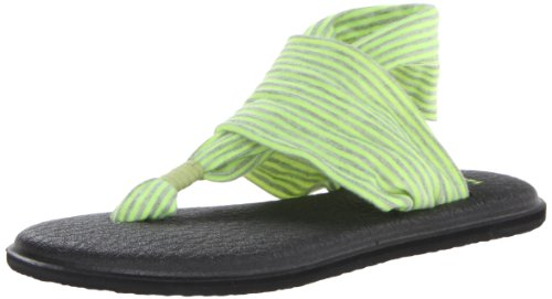 Sanuk Damen Flip Flops Yoga Sling 2 Farbe: Neonyellow Größe: 10US(41EU)