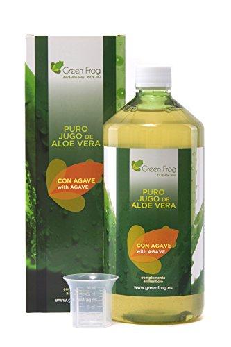 Green Frog. Jugo de Aloe Vera con Sirope de Agave. 100% Fresco y Natural. 1L