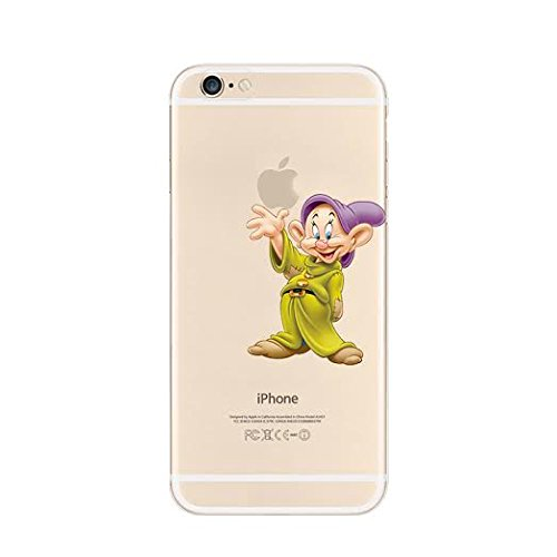 New Disney Seven Dwarfs Clear TPU Soft Case For Apple iPhone 8 Plus SNEEZY DOPEY
