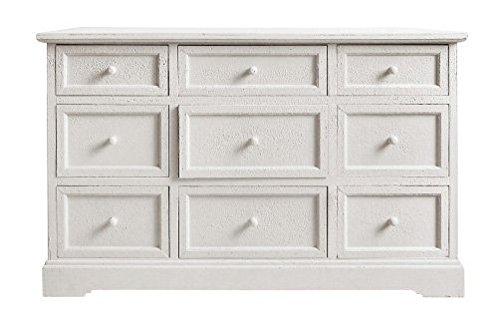 Cassettiera bianca in legno stile vintage L'ARTE DI NACCHI VZ-71