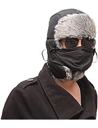 E9Q Hombre Unisex Mujer Invierno Trapper Aviador Trooper Orejera Caliente Sombrero Pasamontañas