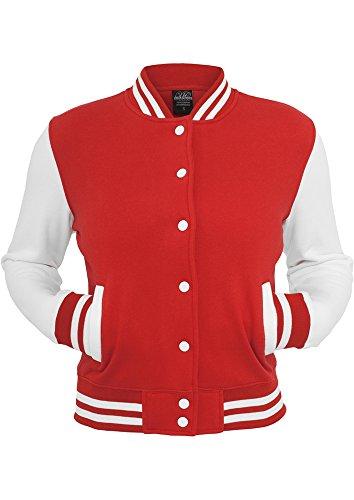 Ladies urban classics veste pour homme college 2 tons couleur Multicolore - Rouge/blanc