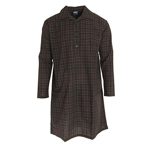 Harvey James Herren Langarm Nachthemd (2XL) (Karomuster)