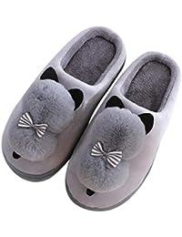985ffde44a745 Mignon Hiver Femmes Pantoufles en Peluche Femme Femme Coton Femmes  Chaussures d hiver Maison Animaux