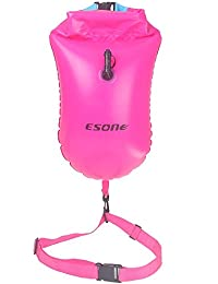 Esone - natación boya de seguridad y bolsa seca / temporada para abierto agua nadadores, triatletas, kayakers y snorkelers seguro natación